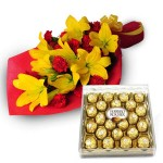Lilies with Ferrero