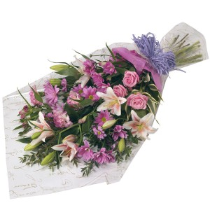 Fornt sided  Exotic Flower Bunch