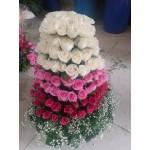 Roses Tower Arrangement
