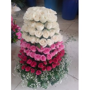 Roses Tower Arrangement
