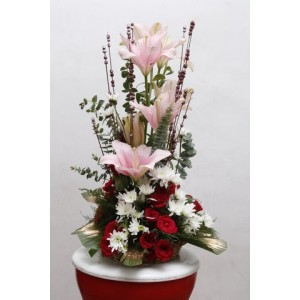 Lilies with Roses arrangement