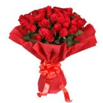 Red Roses with Red paper